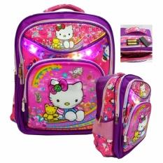 Harga Onlan Tas Lampu Ransel Anak Sekolah Sd Ukuran 4 Kantung Besar Karakter Anak Perempuan 5D Timbul Hologram Pink Seken