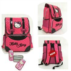 Jual Onlan Tas Ransel Anak Import Dan Kotak Pensil Timbul Karakter Hello Kitty Pita Cantik Pink Onlan Online
