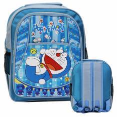 Beli Onlan Tas Ransel Anak Pg Tk Doraemon Soft Timbul Bahan Kain Saten Biru Online Murah