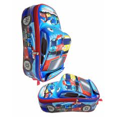 Jual Cepat Onlan Tas Ransel Anak Sekolah Paut Motif Bus Tayo Bahan Sponge Tahan Air Bentuk Mobil Unik Blue