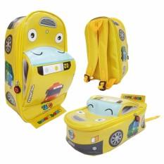 Onlan Tas Anak Sekolah Paut Motif Bus Tayo Bahan Sponge Tahan Air Bentuk Mobil Unik Promo Beli 1 Gratis 1