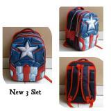 Beli Onlan Tas Ransel Anak Sekolah Sd Import Avengers Super Hero 6D Timbul Soft Hard Cover Empuk Blue Murah Dki Jakarta