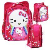 Promo Toko Onlan Tas Ransel Anak Sekolah Sd Motif Karakter Hello Kitty 6D Timbul Import Pink