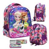 Ulasan Tentang Onlan Tas Ransel Anak Sekolah Tk Import Karakter Anak Perempuan Frozen Cantik Kotak Pensil Purple