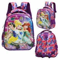 Onlan Tas Ransel Anak Sekolah TK Import Karakter Princess 5D Timbul Hologram - Purple