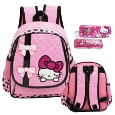 Kualitas Onlan Tas Ransel Anak Tk Bahan Anti Air Import Motif Hello Kitty Kotak Pensil Onlan