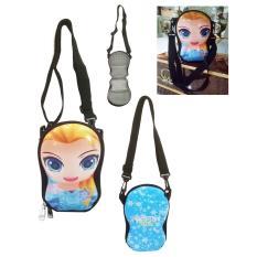 Penawaran Istimewa Onlan Tas Selempang Dompet Anak Atau Tempat Hp Import Motif Karakter Frozen Elsa Blue Terbaru