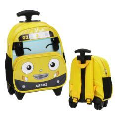 Ulasan Lengkap Tentang Onlan Tas Trolley Anak Sekolah Paut Bentuk Mobil Tayo Bahan Kain Sponge Anti Air