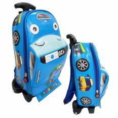 Onlan Tas Trolley Anak Sekolah PAUD Bentuk Mobil Bahan Kain Sponge Anti Air