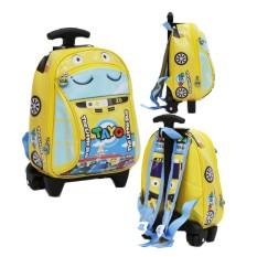 Onlan Tas Trolley Anak Sekolah Paud Motif Karakter Anak Laki Laki Bahan Kain Sponge Tahan Air By Abadi Jaya.