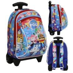 Beli Onlan Tas Trolley Anak Sekolah Paut Motif Karakter Anak Laki Laki Bahan Kain Sponge Tahan Air Blue Onlan Online