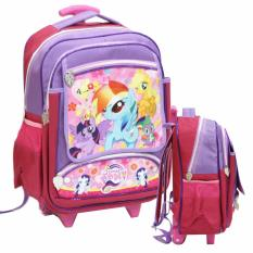 Toko Onlan Tas Trolley Anak Sekolah Sd Bahan Saten Karakter My Little Pony Purple Dki Jakarta