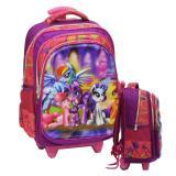 Spesifikasi Onlan Tas Trolley Anak Sekolah Sd Import Little Pony 5D Timbul Hologram Merk Onlan
