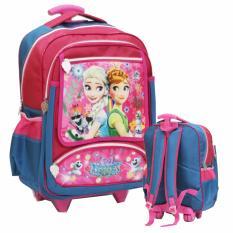 Jual Onlan Tas Trolley Anak Sekolah Sd Ukuran Besar Karakter Frozen Fever Blue Lengkap