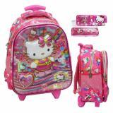Ulasan Lengkap Onlan Tas Trolley Anak Sekolah Tk Import Dan Kotak Pensil Set Alat Tulis Pink