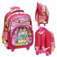 Jual Onlan Tas Trolley Anak Sekolah Tk Karakter Kartun 5D Timbul Hologram Import Pink Ori