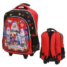 Beli Onlan Tas Trolley Ukuran Anak Sekolah Sd Kantung Besar Karakter Super Hero Import Red Yang Bagus