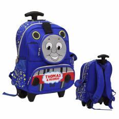 Onlan Thomas And Friend Tas Trolley Anak Sekolah Tk Ada 3 Kantung Unik Import Biru Terbaru