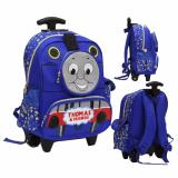 Jual Onlan Thomas And Friend Tas Trolley Anak Sekolah Tk Ada 3 Kantung Unik Import Biru Satu Set