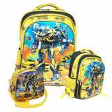 Diskon Onlan Transformers 5D Timbul Hologram Tas Ransel Sd Ukuran Besar Dan Lunch Bag 3In1 Import Yellow Indonesia