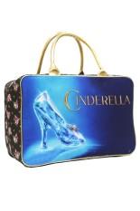 Diskon Onlan Travel Bag Disney Cinderella Sepatu Kaca Bahan Canvas Import Biru Indonesia