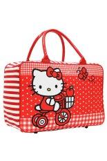 Spesifikasi Onlan Travel Bag Anak Perempuan Bahan Kanvas Halus Red Dan Harganya