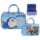 Harga Onlan Travel Bag Motif Karakter Anak Bahan Kanvas Halus Blue Satu Set