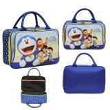 Beli Onlan Travel Bag Motif Karakter Doraemon Dua Kantung Kain Sponge Anti Air Blue Dengan Kartu Kredit