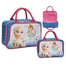Beli Onlan Travel Bag Motif Karakter Anak Dua Kantung Kain Sponge Anti Air Blue Pakai Kartu Kredit