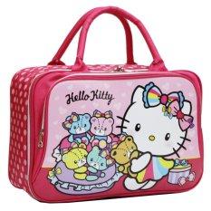 Harga Onlan Travel Bag Motif Karakter Hello Kitty Dua Kantung Kain Sponge Anti Air Pink Onlan