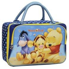 Jual Beli Online Onlan Travel Bag Motif Karakter Winnie The Pooh Dua Kantung Kain Sponge Anti Air Blue