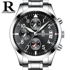 Katalog Ontheedge Business Men Chronograph Watch Man Quartz Watch Waterproof Clock Date Wrist Watch Intl Oem Terbaru
