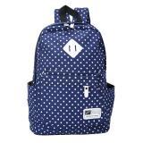 Beli Ooplm Casual Polka Dots Backpack Canvas Backpack Tas Sekolah Untuk Wanita Baru