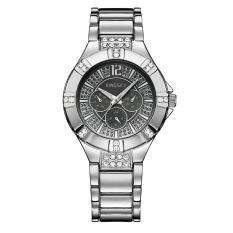 Ooplm Kingsky Produsen Jam Tangan QUARTZ Watch Model Ledakan Jepang Jam Tangan Mewah Atmosfer dari Pria dan Wanita Meja Custom Grosir SMT (SilverGray)