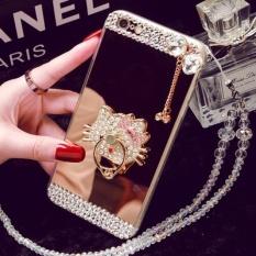 OPPO R9S Mobile Phone Case R11 A59 Cermin TPU Diamond R9plusCreative Pelindung Cover A39 R7SA57 (Warna: Perlu LanyardContact Pelanggan Harga/Ukuran: OPPO R9S)-Intl