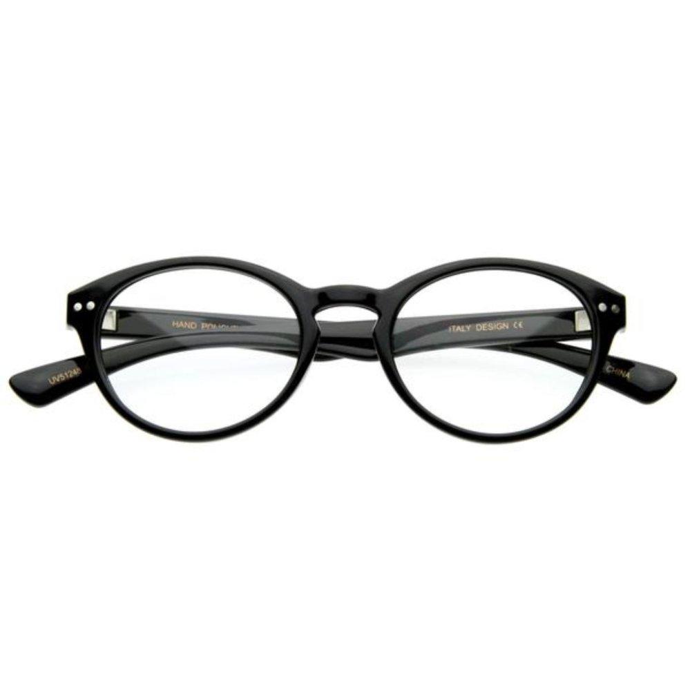 HARGA DISKON Optical Oval Clear Lens Glasses 1305 M - Kacamata Pria ... 2a49ac1d9f