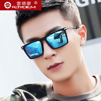 Daftar Harga Polarisasi kacamata hitam pria kacamata hitam orang trendi  mengemudi mata 2018 model baru kepribadian bentuk persegi Retro sopir  kacamata ... a16a7d1bb2