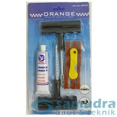 ORANGE Tire Repair Tool Kit Motor Mobil Alat Tambal Ban Tubles