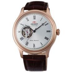 Orient Jam Tangan Pria Orient FAG00001S Semi Skeleton Automatic Rose Gold Leather Watch
