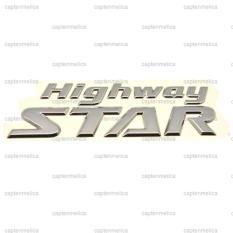 Rp 279000 Original Aksesoris Mobil Emblem Bagasi HIGHWAY STAR Logo Bodi Body Motor Metal Sticker Stiker