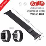 Toko Original Milanese Web Tali Rantai Mewah Milanese Loop Strap Stainless Steel Band Adjustable Closure Untuk Apple Watch 38Mm Watchband Hitam Tiongkok