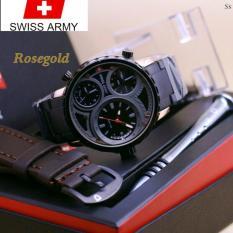 Original Swiss Army Infantry Limited Edition - Jam tangan Pria Premium Leather Strap ltts82633