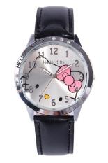 Harga Ormano Jam Tangan Anak Hitam Leather Strap Fun Hello Kitty G*rl Watch Terbaru