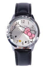 Beli Ormano Jam Tangan Anak Hitam Leather Strap Fun Hello Kitty G*rl Watch Murah Indonesia