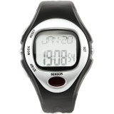 Jual Ormano Jam Tangan Olahraga Hitam Silver Strap Rubber Sport Gym Fitness Pulse Monitor Watch Ori