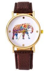 Ormano - Jam Tangan Unisex - Cokelat - Strap Leather - Victa Elephant Watch