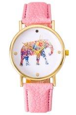 Ormano - Jam Tangan Unisex - Pink - Strap Leather - Victa Elephant Watch