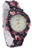 Spesifikasi Ormano Jam Tangan Wanita Hitam Merah Strap Mika Aniela Flower Watch Paling Bagus