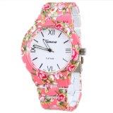 Cuci Gudang Ormano Jam Tangan Wanita Pink Strap Mika Aniela Flower Watch