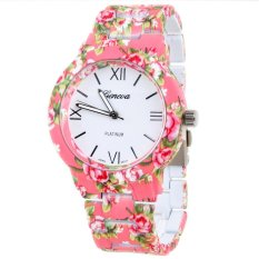 Ormano Jam Tangan Wanita Pink Strap Mika Aniela Flower Watch Ormano Diskon 30